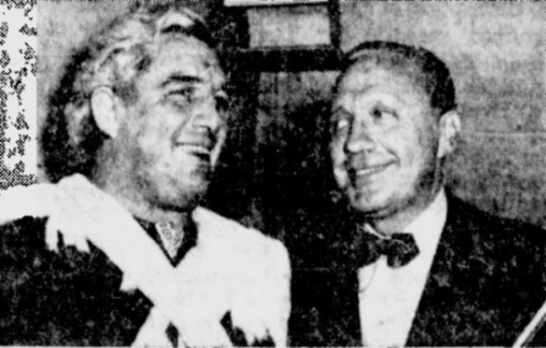 Gorgeous George and Jack Benny