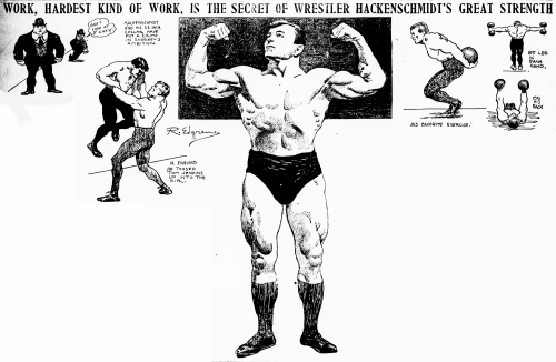 George Hackenschmidt - Hard Work article 4-8-1905