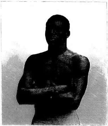 """Black Sam,"" COLORED CHAMPION WRESTLER OF VERMONT."